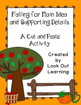 Fall Main Idea Cut and Paste