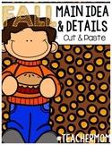 Fall Main Idea & Detail Cut & Paste