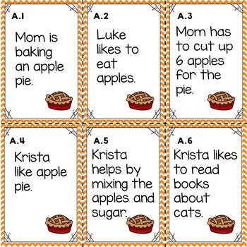 Fall Main Idea Task Cards
