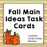 Fall Main Idea Task Cards