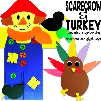 Fall Craft BUNDLE! (owl, bat, scarecrow, turkey glyph, Christopher Columbus)