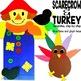 Fall Crafts (owl, bat, scarecrow, turkey glyph, Christopher Columbus)