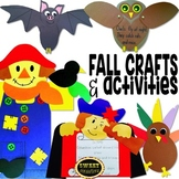 Fall Crafts (owl, bat, scarecrow, turkey glyph, Christopher Columbus) bundle