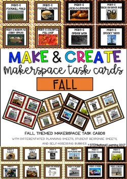 Fall Makerspace STEM Task Cards {Make and Create}