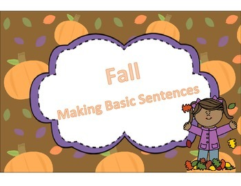 Fall Making Basic Sentences