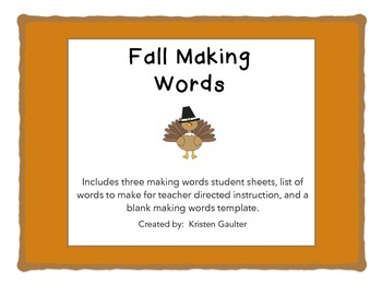 Fall Making Words