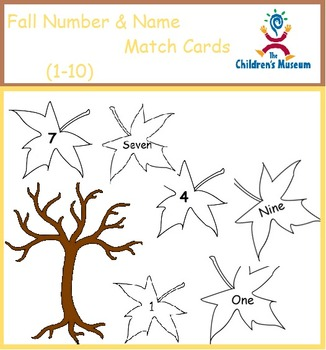 Fall Match Cards - Numbers