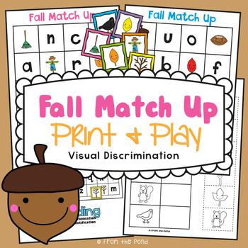 Fall Match Up Visual Discrimination Game