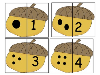 Fall Match-ups and Puzzles Kindergarten