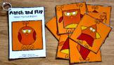 Fall Matching Activities:  Fall Match and Flip Books