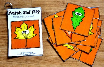 Fall Matching Activities:  Fall Match and Flip Books