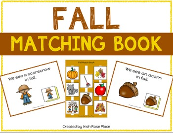 Fall Matching Book (Adapted Book)