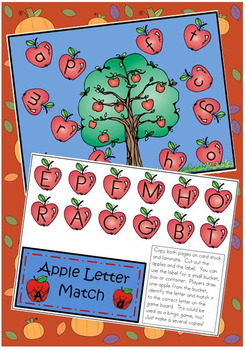 Fall Matching Activities for Kindergarten * Letters * Initial Sound * Addition