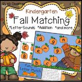 Fall Literacy and Math Center Activities for Kindergarten