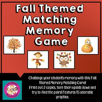 Fall Matching Memory Game