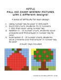 Fall Math 100 Chart Addition Subtraction Mystery Picture A