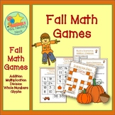 Fall Math Games - Basic Operations, Whole Numbers and Glyphs
