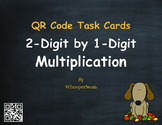 Fall Math: 2-Digit by 1-Digit Multiplication QR Code Task Cards