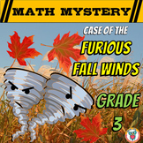 3rd Grade Fall Activity - Fall Math Mystery Worksheets Review