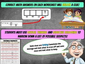 Fall Math Activity: Math Mystery {Grade 4 Fun Mixed Math Review}