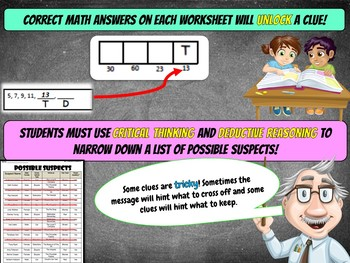 4th Grade Fall Activity - Fall Math Mystery Review