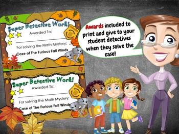 Fall Math Activity: Math Mystery  {Grade 5 Fun Mixed Math Review}