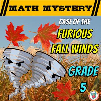 5th Grade Fall Activity - Fall Math Mystery Review