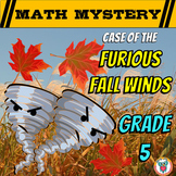 5th Grade Fall Activity - Fall Math Mystery Review