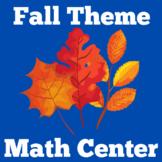 Fall Math | Center Activity | Kindergarten 1st 2nd 3rd Grade
