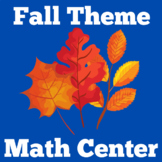 Fall Math Center | First Grade