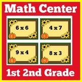 Fall Math Center First Grade | Second Grade