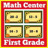 Fall Math Center First Grade