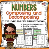 Fall Activities: Number Bonds Worksheets & Games - 5 Differentiated Levels!