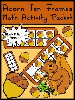 Fall Math Activities: Fall Ten Frames: Acorn Ten Frames