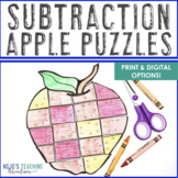 SUBTRACTION Math Apple Centers | Fall Coloring Page Alternatives