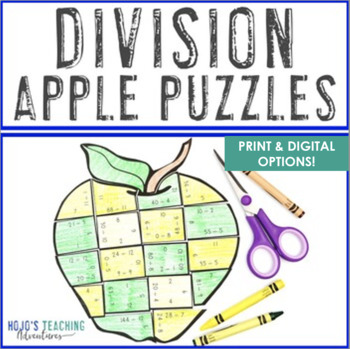 DIVISION Apple Math Centers | Make a FUN Apple Craft | Back to School Math Game
