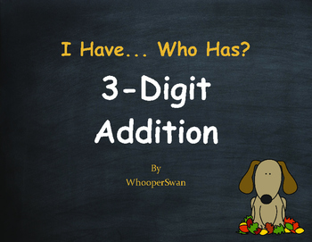 Fall Math: 3-Digit Addition - I Have, Who Has