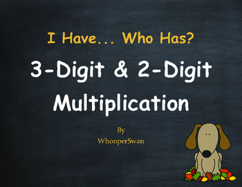 Fall Math: 3-Digit and 2-Digit Multiplication - I Have, Who Has