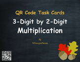 Fall Math: 3-Digit by 2-Digit Multiplication QR Code Task Cards