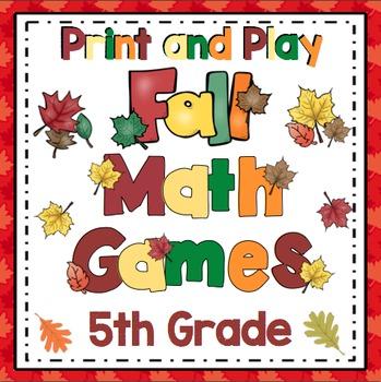 Fall Math: 5th Grade