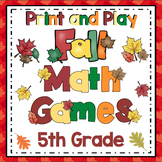 5th Grade Fall Math: 5th Grade Math Games and Centers