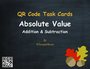 Fall Math: Absolute Value - Addition & Subtraction QR Code