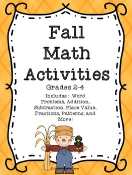 Fall Math Activities 2-4