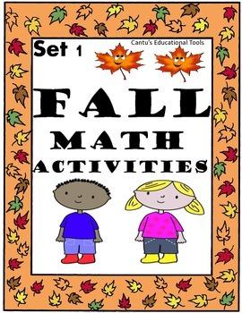Fall Math Activities Set 1