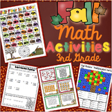 3rd Grade Fall Math Activities: 3rd Grade Math Games, Centers, Scoot, and More