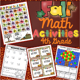 4th Grade Fall Math Activities: 4th Grade Math Games, Centers, Scoot, and More
