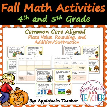 Fall Math Activities - 4th and 5th Grade - Place Value