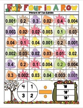 Fall Math Activities - 5th Grade