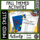 Fall Math Activities - Riddles & Color by Code Pages