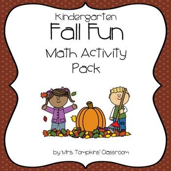 Fall Math Activities for Kindergarten